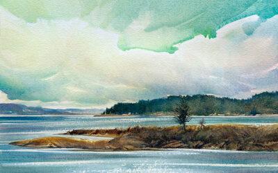 Waterside: 9×13: watercolour on paper