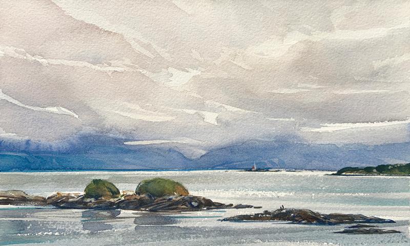 Original Watercolour Painting by Ken Faulks Visual Artist & Canadian Plein Air Painter