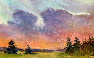 Shades of Big Bar: 4×6 watercolour on paper